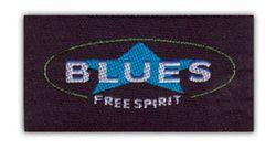 Nažehlovací etikety střední- blues