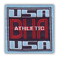 Nažehlovací etikety střední - athletic USA