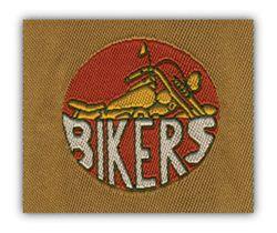 Nažehlovací etikety střední - bikers