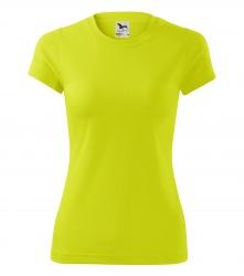 Sportovní tričko DÁMSKÉ - fluorescenční barva žlutá  XS - XL