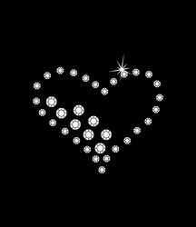Nažehlovací motivy z kamínků- srdce