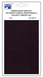 Velké riflove nažehlovací záplaty - černá