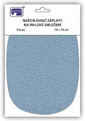 Riflové nažehlovací záplaty velké - ovál, světle modrá