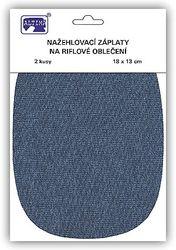 Riflové nažehlovací záplaty velké - ovál, středně modrá