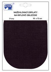 Riflové nažehlovací záplaty velké - ovál, černá