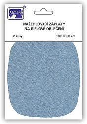 Riflové nažehlovací záplaty střední - ovál, světle modrá