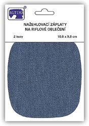Riflové nažehlovací záplaty střední - ovál, středně modrá