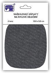 Riflové nažehlovací záplaty střední - ovál, tmavě modrá