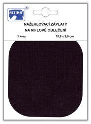 Riflové nažehlovací záplaty střední - ovál, černá