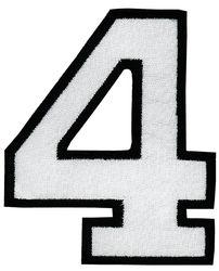 Nažehlovací vyšívaná čísla - čtyřka bílá, výška 8cm
