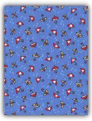 Záplaty s potiskem- modré deštníky