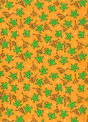 Záplaty s potiskem - hvězdičky žluto zelené