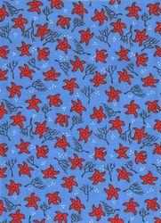 Záplaty s potiskem - hvězdičky červené