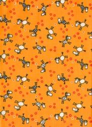 Záplaty s potiskem-  zebry na oranžovém podkladu
