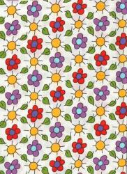 Záplaty s potiskem- kytičky fialové