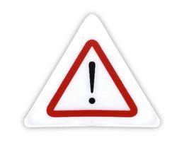 Reflexní samolepka - jiné nebezpečí, balení 5ks