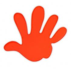 Reflexní samolepka - ruka oranžová, balení 5ks