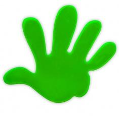 Reflexní samolepka - ruka zelená, balení 5ks