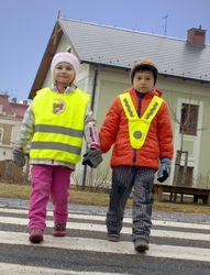 Reflexní vesta pro děti a dospělé ve tvaru V - splňuje EN 13356