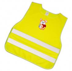 Dětská reflexní vesta s obrázkem- pejsek s červeným srdcem - splňuje EN 1150