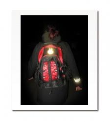 Reflexní samolepka plamínek - bílý, balení 5ks
