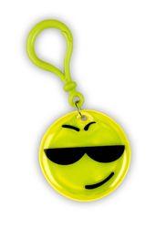 Reflexní přívěšek smajlík žlutý