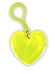Reflexní přívěšek srdíčko žluté
