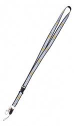 Reflexní klíčenka s potiskem smajlíka  AHOJ  - černá