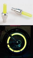 LED svítící ventilky na kolo