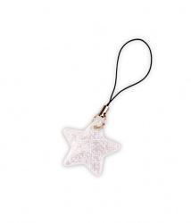 Reflexní taháček hvězdička bílá