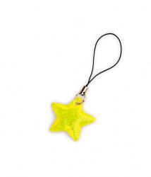 Reflexní taháček hvězdička žlutá