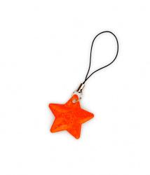 Reflexní taháček hvězdička oranžová