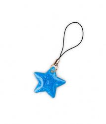Reflexní taháček hvězdička modrá
