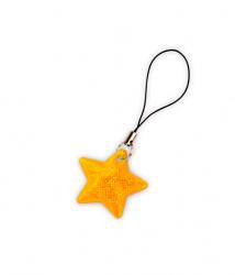 Reflexní taháček hvězdička zlatá