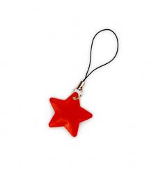 Reflexní taháček hvězdička červená