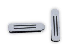 Reflexní taháček na zip stříbrný