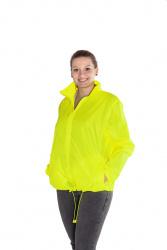 Větrovka s kapucí - fluorescenční barva žlutá, velikost S - XXL, UNISEX