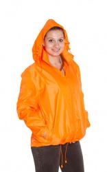 Větrovka s kapucí - fluorescenční barva oranžová, velikost S - XXL, UNISEX