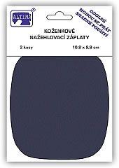 Koženkové nažehlovací záplaty - modrá