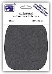 Koženkové nažehlovací záplaty - šedá