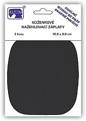 Koženkové nažehlovací záplaty - černá