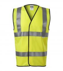 Reflexní vesta pro dospělé - 3 reflexní pruhy ŽLUTÁ  EN ISO 20471:2013