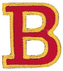 Vyšívaná nažehlovací písmenka,výška 3cm