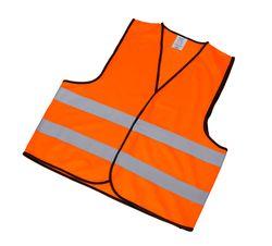 Reflexní bezpečnostní vesta oranžová vel. XL     EN ISO 20471:2013