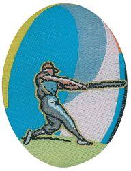 Sportovní nažehlovací etikety - baseball
