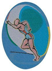 Sportovní nažehlovací etikety - běžec