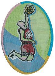 Sportovní nažehlovací etikety - košíková