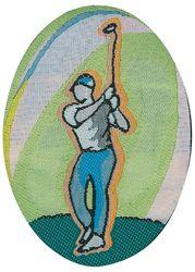 Sportovní nažehlovací etikety - golf