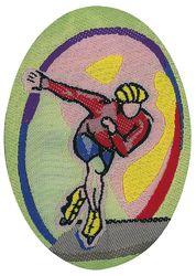 Sportovní nažehlovací etikety - bruslení