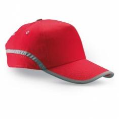 Baseballová čepice s reflexním pruhem ČERVENÁ